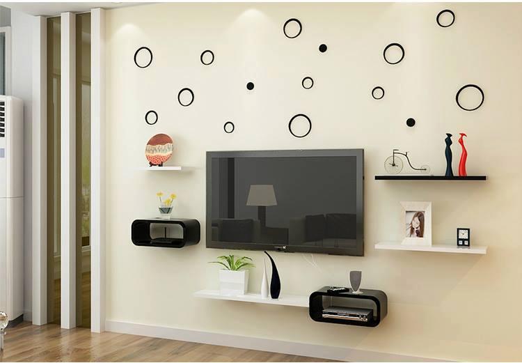 Bộ kệ gỗ decor trang trí tivi TV-01