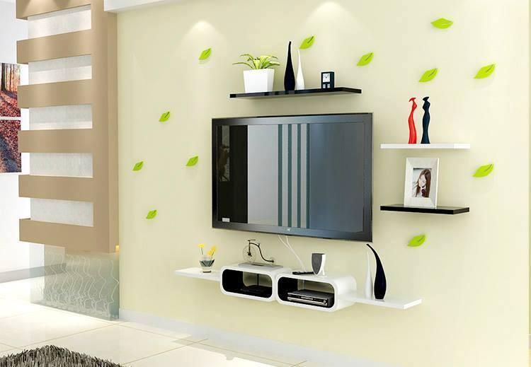 Bộ kệ gỗ decor trang trí tivi TV-02