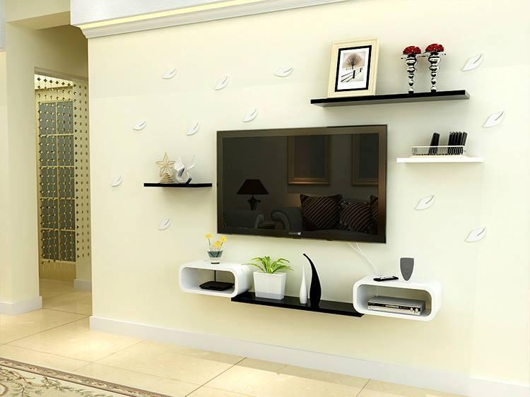 Bộ kệ gỗ decor trang trí tivi TV-04