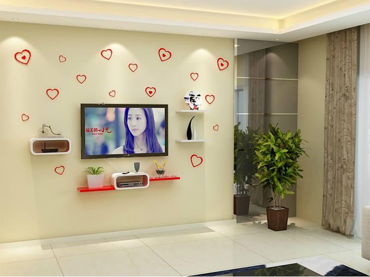 Bộ kệ gỗ decor trang trí tivi TV-05