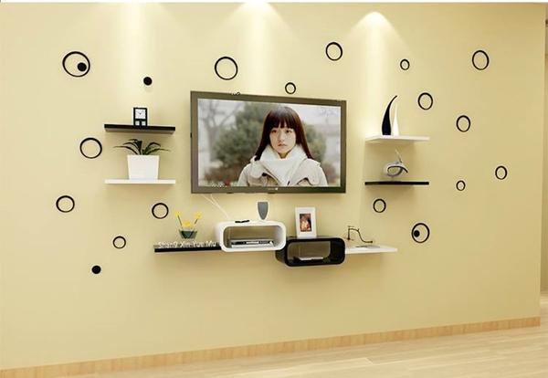 Bộ kệ gỗ decor trang trí tivi TV-08