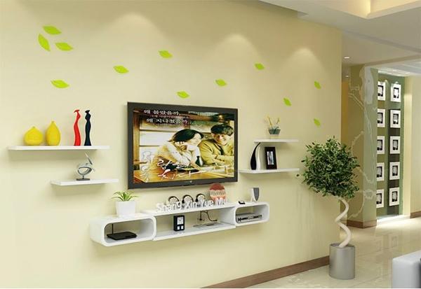 Bộ kệ gỗ decor trang trí tivi TV-12