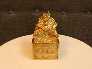 Ấn Rồng Cửu Long bằng đồng 12.5cm - Q0242