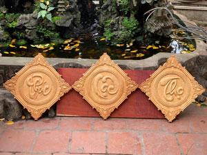 Bộ tranh gỗ Phúc Lộc Thọ 50cm