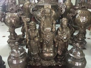 Bộ tượng Tam Đa Phúc Lộc Thọ đồng ngũ sắc - Q0478
