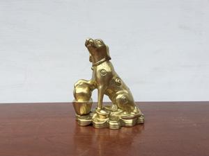 Chó phong thủy đúc bằng đồng vỏ đạn 20cm - Q0662