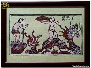 Tranh Đông Hồ Cưỡi Rồng
