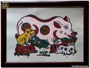 Tranh Đông Hồ Đàn Lợn