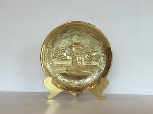 Đĩa đồng quà tặng Khuê Văn Các - Q0685
