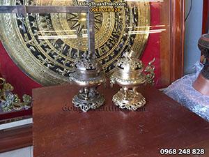 Đỉnh Xông Trầm Bằng Đồng Vàng, Đồng Hun 20cm