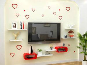 Bộ kệ gỗ decor trang trí tivi TV-03