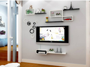 Bộ kệ gỗ decor trang trí tivi TV-10