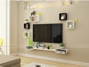 Bộ kệ gỗ decor trang trí tivi TV-18