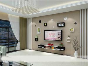 Bộ kệ gỗ decor trang trí tivi TV-22