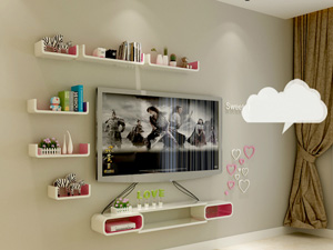 Bộ kệ gỗ decor trang trí tivi TV-23