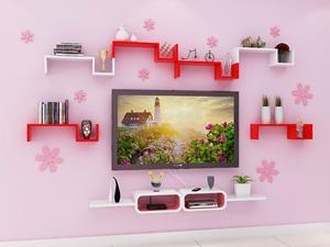Bộ kệ gỗ decor trang trí tivi TV-26