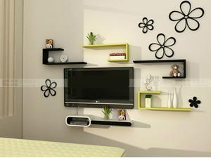 Bộ kệ gỗ decor trang trí tivi TV-27