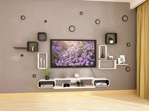 Bộ kệ gỗ decor trang trí tivi TV-28