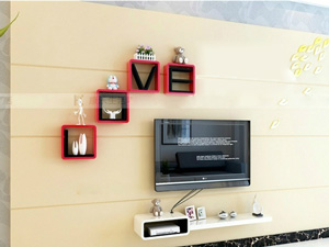 Bộ kệ gỗ decor trang trí tivi TV-32