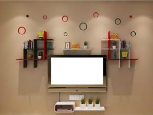 Bộ kệ gỗ decor trang trí tivi TV-35