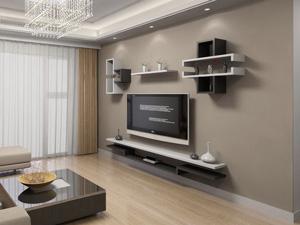 Bộ kệ gỗ decor trang trí tivi TV-44