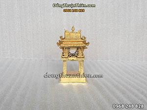 Khuê Văn Các Bằng Đồng Mạ Vàng 14cm