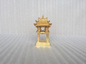 Khuê Văn Các bằng đồng mạ vàng 24k cao 14cm - Q0491