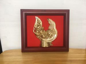 Tranh Đầu Rồng bằng đồng 28cm x 25cm - Q0481