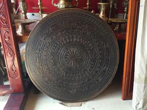 Mặt trống đồng đúc hun màu đường kính 80cm - Q0604