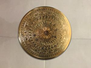 Mặt Trống Đồng đường kính 1m mạ vàng 24k - Q0283