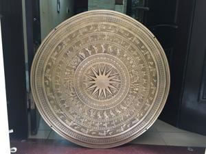 Mặt trống đồng Thuận Thiên đúc chân không đường kính 60cm - Q0487