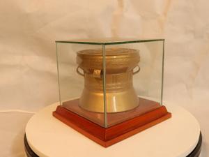 Quả Trống Đồng hoa văn chìm đường kính 12cm - Q0205
