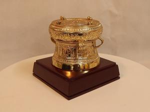 Quả Trống Đồng mạ vàng đường kính 10cm - Q0204