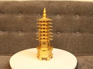 Tháp Văn Xương 7 tầng bằng đồng cao 26cm - Q0235