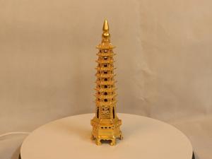 Tháp Văn Xương 9 tầng bằng đồng dát vàng cao 24cm - Q0103