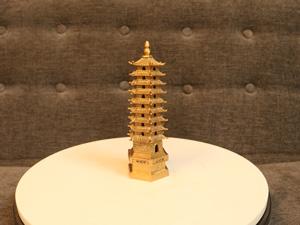 Tháp Văn Xương 9 tầng bằng đồng cao 18cm - Q0237