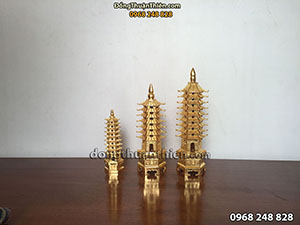 Bán Tháp Văn Xương Bằng Đồng Dát Vàng 9999