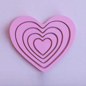 Trái tim gỗ trang trí TT-02