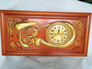 Tranh gỗ đồng hồ chữ Tâm 81cm