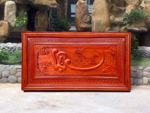 Tranh gỗ hương chữ Lộc thư pháp 1m27