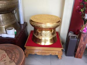 Trống đồng dát vàng đường kính 40cm - Q0603