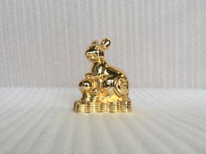 Tượng con Chuột mạ vàng 24k cỡ 15cm - Q0396