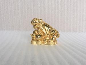 Tượng con Hổ mạ vàng 15cm - Q0392
