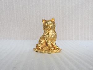 Tượng con Mèo cao 15cm mạ vàng 24k - Q0384