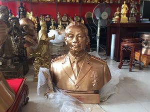 Tượng đại tướng Võ Nguyên Giáp đồng đỏ 81cm - Q0606