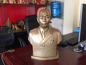 Tượng đồng Bác Giáp Thuận Thiên 40cm - Q0621