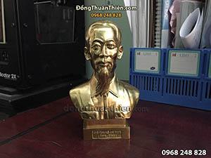 Tượng Đồng Chân Dung Bác Hồ Cao 15cm