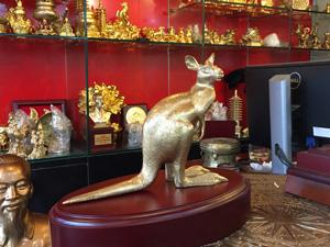 Tượng đồng chuột túi Kangaroo 23cm - Q0577