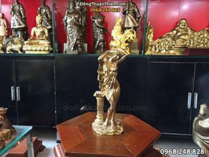 Tượng Đồng Vệ Nữ Cô Gái Châu Âu cao 30cm