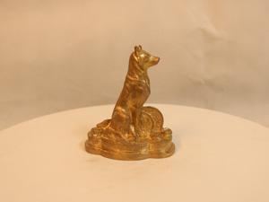 Tượng đồng con Chó cao 10cm - Q0131
